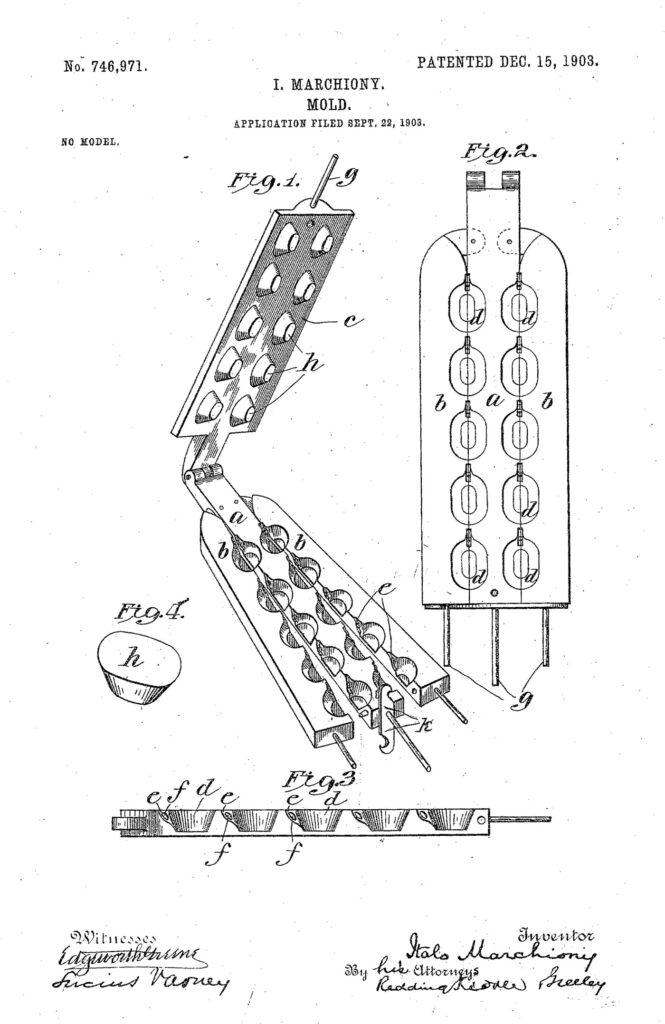 Primo brevetto di Italo Marchioni