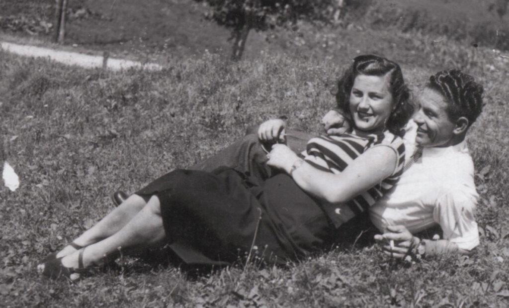 Evelina e Aurelio nel 1950, da poco sposi