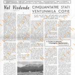 Bellunesi nel mondo ANNO I numero speciale – 27 settembre 1966