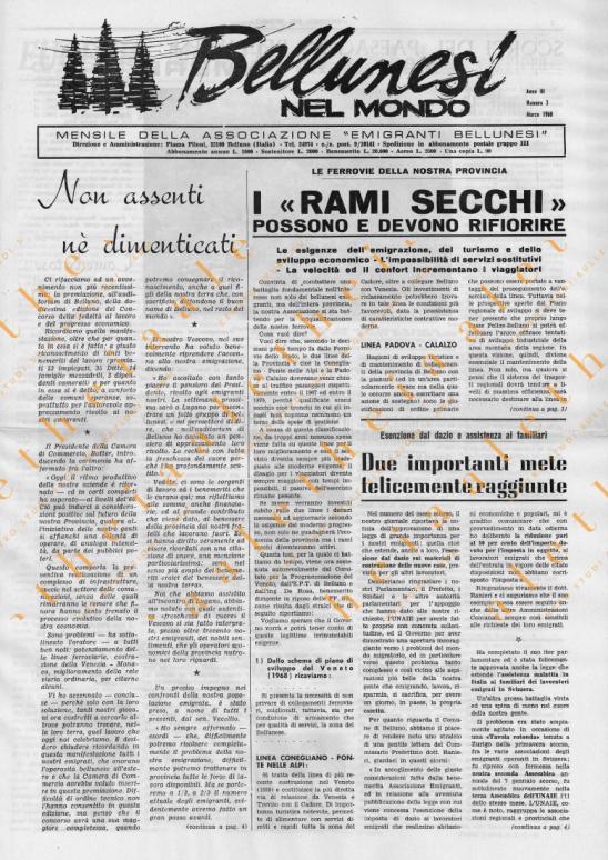 Bellunesi nel mondo n. 3 marzo 1968