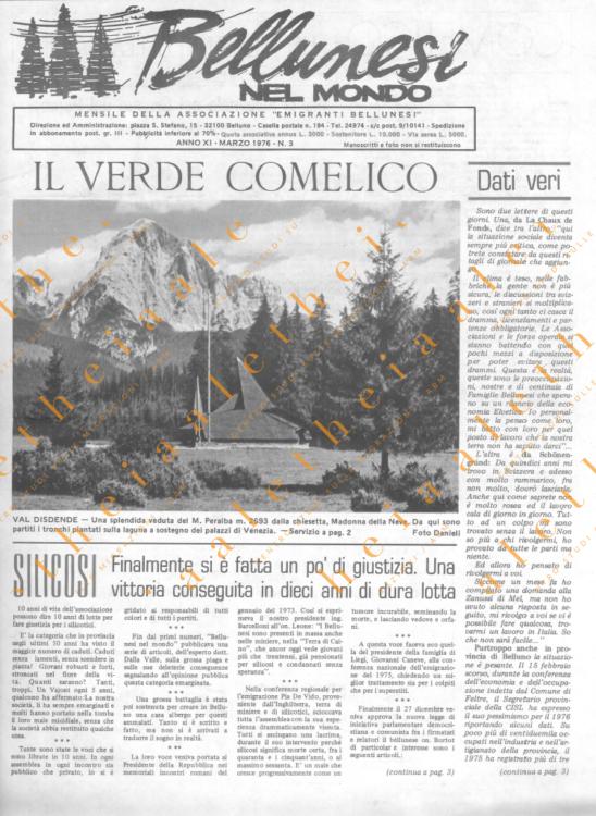 Bellunesi nel mondo n. 3 - marzo 1976