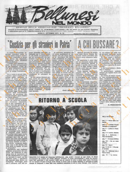Bellunesi nel mondo n. 10 - ottobre 1975