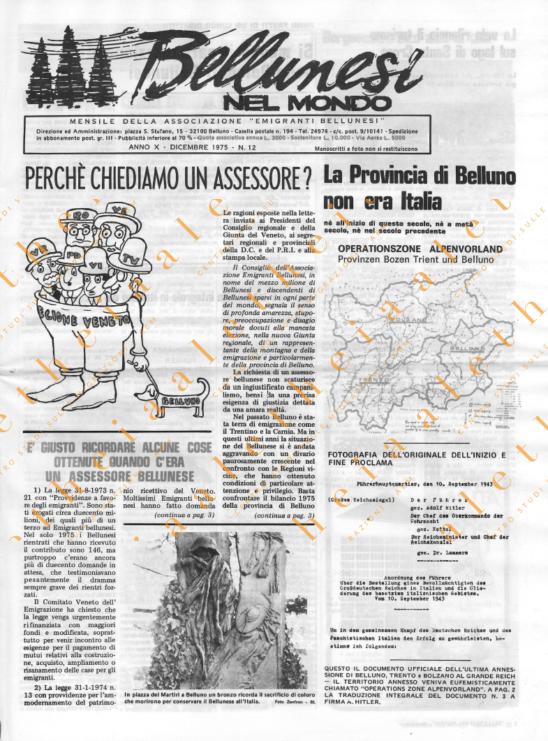 Bellunesi nel mondo n. 12 - dicembre 1975