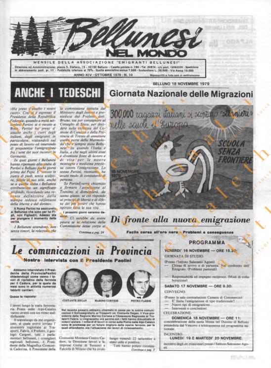 Bellunesi nel mondo n. 10 - ottobre 1979