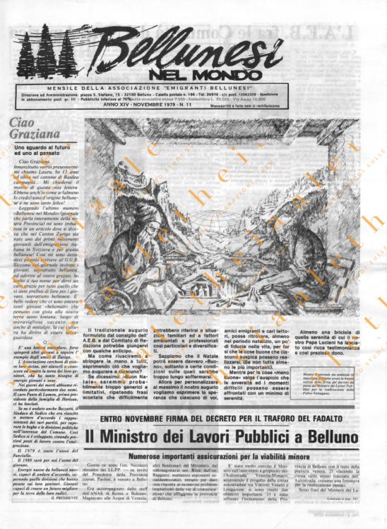 Bellunesi nel mondo n. 11 - novembre 1979