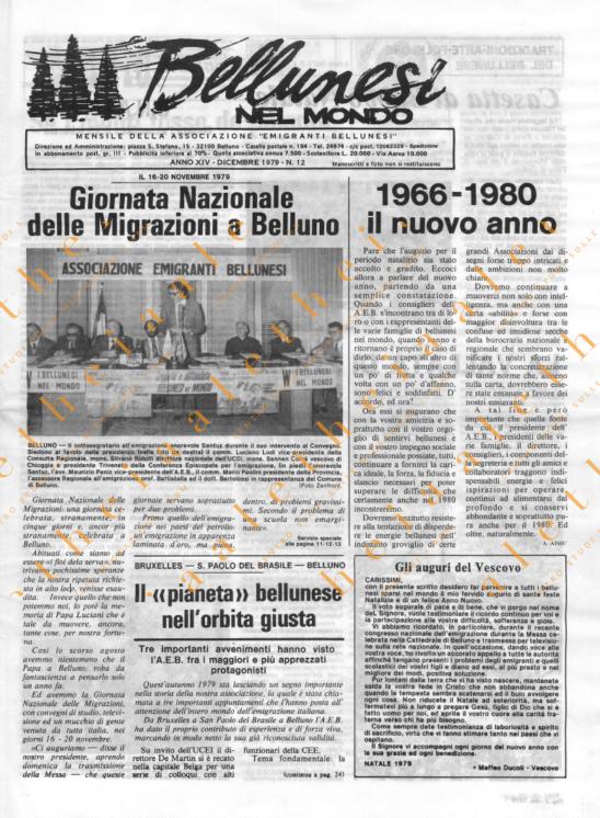 Bellunesi nel mondo n. 12 - dicembre 1979