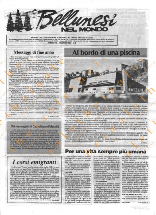Bellunesi nel mondo n. 2 - febbraio 1983