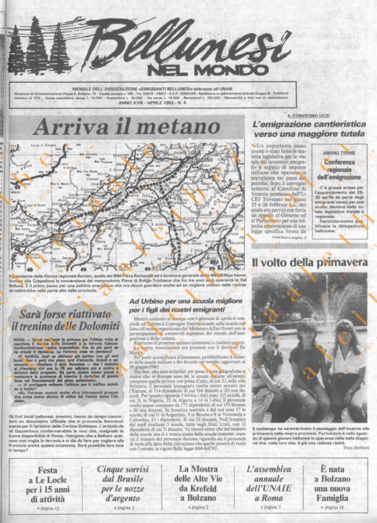 Bellunesi nel mondo n. 4 - aprile 1983