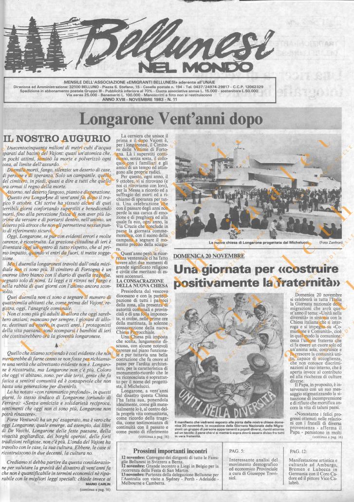 Bellunesi nel mondo n. 10 - ottobre 1983