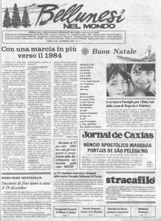 Bellunesi nel mondo n. 12 - dicembre 1983